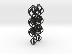 SWIRL - earrings in Black Strong & Flexible
