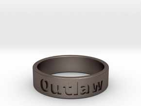 Outlaw Mens Ring 19.8mm Size10 in Stainless Steel