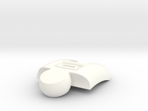PuzzlelinkletterD in White Strong & Flexible Polished