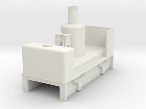 OO9 cheap and easy vertical boiler loco in White Strong & Flexible