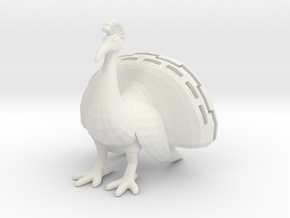 Paperclip Peacock in White Strong & Flexible