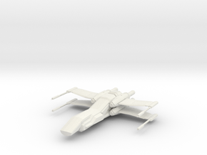 1/144 Penguin Deep Space Fighter in White Strong & Flexible