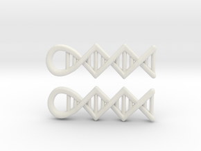 DNA earrings in White Strong & Flexible