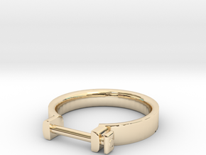 Cowboy Shackle Ring - Sz. 9 in 14K Gold
