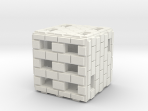 Brick Die in White Strong & Flexible