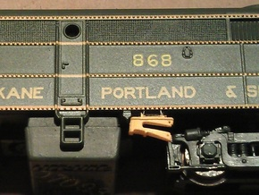 16 No. Re-Railers Type 1 Hanging N Scale 1:160 in Frosted Ultra Detail