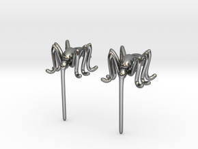 Mosquito Earrings in Polished Silver
