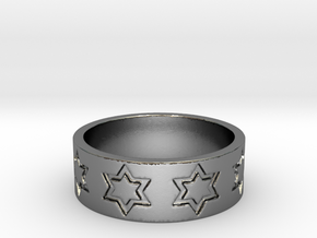 51 STAR RING Ring Size 8.25 in Polished Silver