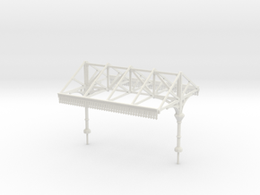 Platform Canopy Section 1 - No Roof - 4mm Scale in White Strong & Flexible