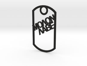 Molon Labe dog tag in Black Strong & Flexible