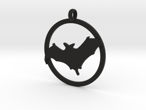 Bat awareness charm in Black Strong & Flexible