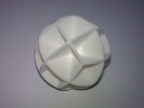 DRAW geo - sphere 24 cut outs in White Strong & Flexible