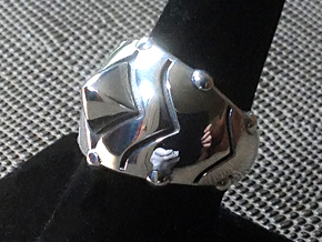 Zen Ring - Size 9 (18.95 mm) in Polished Silver