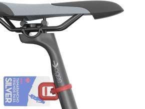 TagBone Seat Post Clip in Red Strong & Flexible Polished