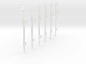 HO-Scale Power Poles With Transfomers in Frosted Ultra Detail