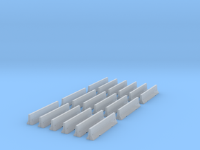 18 Jersey Barriers for 6mm, 1/300 or 1/285 in Frosted Ultra Detail