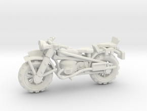 28mm Crude Motorbike 2 in White Strong & Flexible
