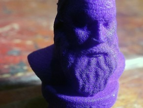 Socrates Bust in Purple Strong & Flexible Polished