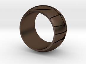 Apple of Eden Assassin Ring in Polished Bronze Steel