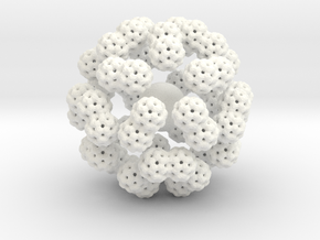 Fractal art in White Strong & Flexible Polished