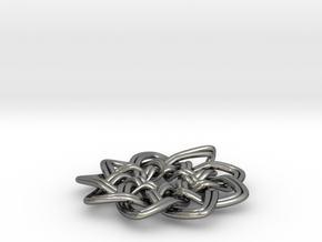 Woven Pendant in Polished Silver