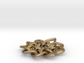 Woven Pendant in Polished Gold Steel