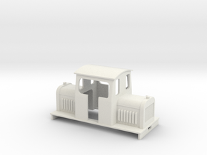 On16.5 centercab diesel loco  in White Strong & Flexible