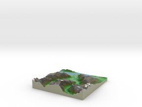 Terrafab generated model Thu Aug 07 2014 11:18:04  in Full Color Sandstone