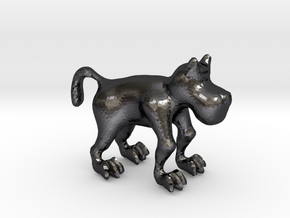 Dog in Polished Grey Steel