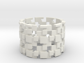 Borg Cube Ring Size 12 in White Strong & Flexible