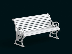 1:10 Scale Model - Bench 03 in White Strong & Flexible