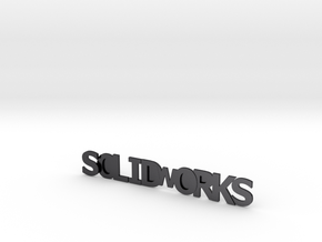 Solidworks in Polished Grey Steel