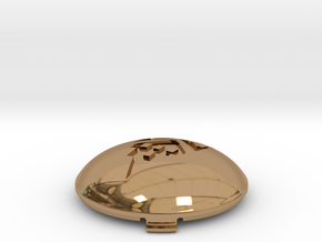 Ollie Dome Hubcap ME in Polished Brass