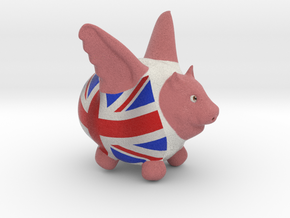 Flying Pig UK Flag in Full Color Sandstone