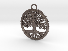 Tree Pendant in Stainless Steel