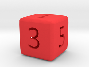 Numeric Dice in Red Strong & Flexible Polished