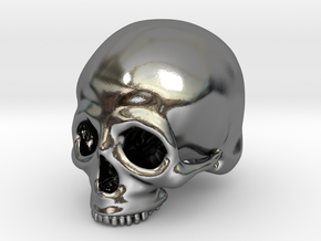 Skull Deko (big) in Polished Silver