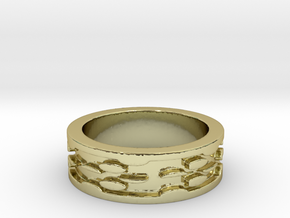 Cheese (Size 6) in 18k Gold