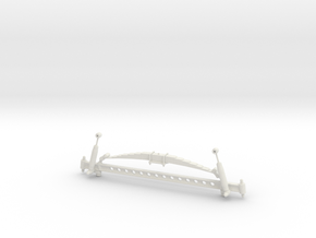 1/8 scale Straight Axle. in White Strong & Flexible