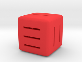 Line Dice in Red Strong & Flexible Polished