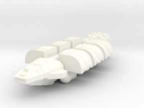 Light Freighter in White Strong & Flexible Polished