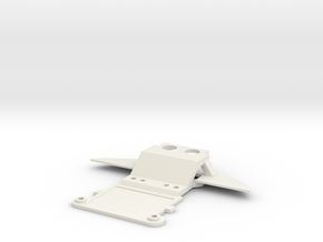 Audi R8 Mini-z front piece in White Strong & Flexible