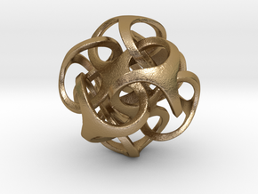 Metatron 24mm (1 inch) in Polished Gold Steel