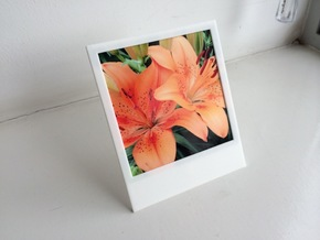 Polaroidesque photo frame in White Strong & Flexible Polished
