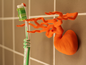 Toothbrush Tree - Six Branched in Orange Strong & Flexible Polished