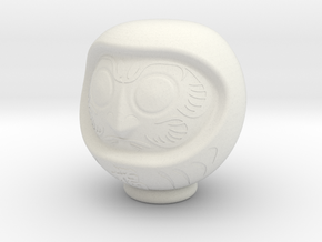 Daruma Doll 001 in White Strong & Flexible