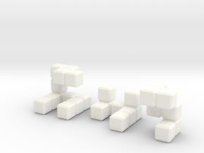 The Seldom Seen Cube in White Strong & Flexible Polished