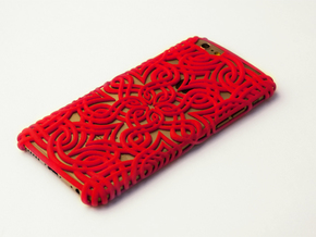 Lotus Case for the iPhone 6 /6S in Red Strong & Flexible Polished
