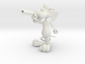 Dirty Rat -Gun Small v4 in White Strong & Flexible