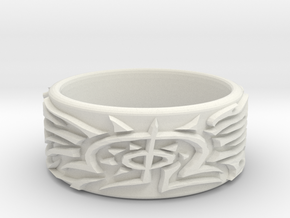 Eldritch Ring - Finger - Size 10ish in White Strong & Flexible